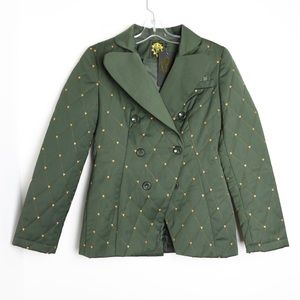 Nishe NWT quilted khaki forest green  warm jacket